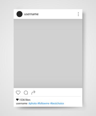 Social network photo frame vector illustration. Illustration