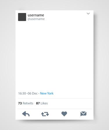 Social network post frame. Vector illustration