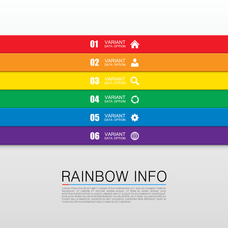 bar graph: Rainbow info art Illustration
