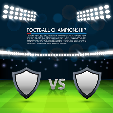 Football championship cover, Cover match background, Vector ilustration Illustration