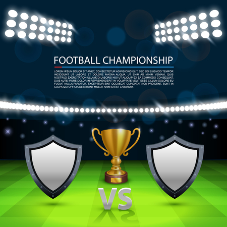 vs: Football championship cover, Sport Cup background, Vector ilustration