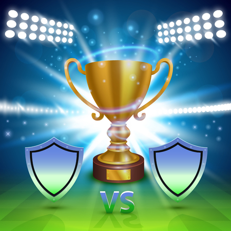 championships: Football championship cover, Sport Cup background, Vector ilustration