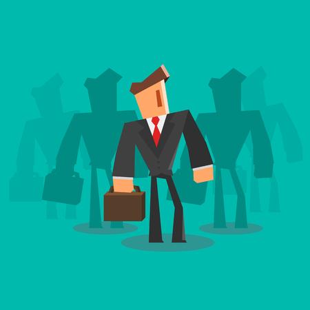 skill: Businessman team. Professional concept. Illustration