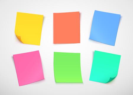 Multicolor paper notes 일러스트