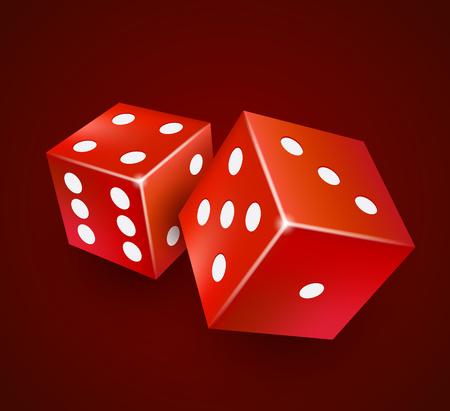 Dice vector design. Two dice casino gambling template concept. Casino background