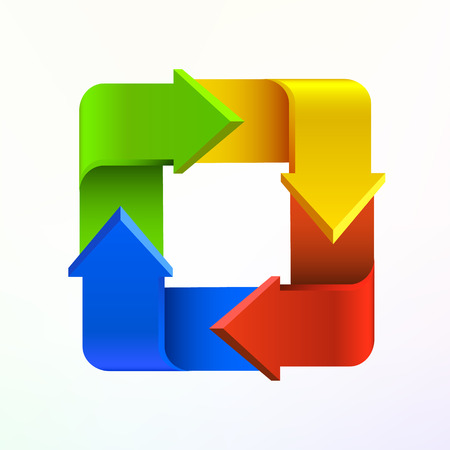 rectangle: Colorful arrows in form of rectangle logo.