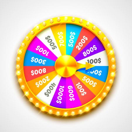 Kleurrijk fortuin wiel. Vector Illustratie
