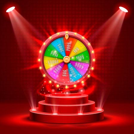 Wheel of fortune banner. Vettoriali