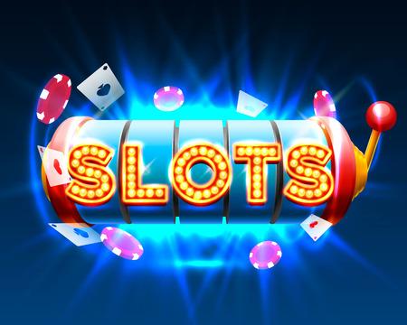 Casino slots jackpot 777 signboard.