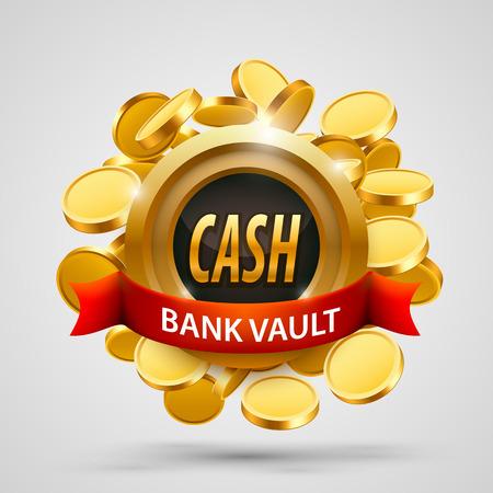 Cash bank vault. coins depository. Illustration