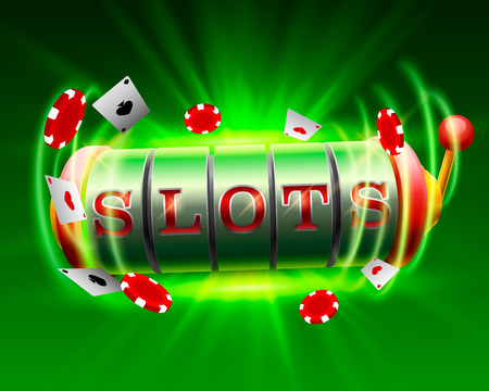 Casino slots jackpot 777 signboard. Vector illustration Stock Photo