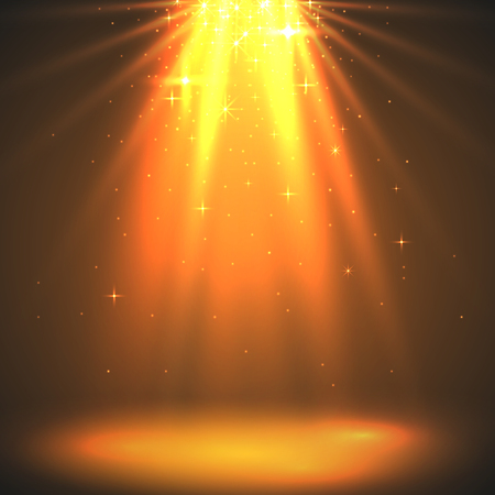 ray of light: Abstract magic light background. Golden holiday burst.