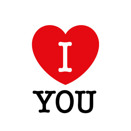 I Love You. Beautiful vector illustration. Vector illustration
