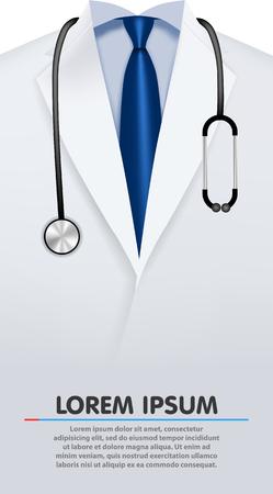 Close up of a doctor's lab coat Illustration