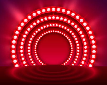 Mostra sfondo rosso podio rosso. Illustrazione vettoriale Archivio Fotografico - 86446386