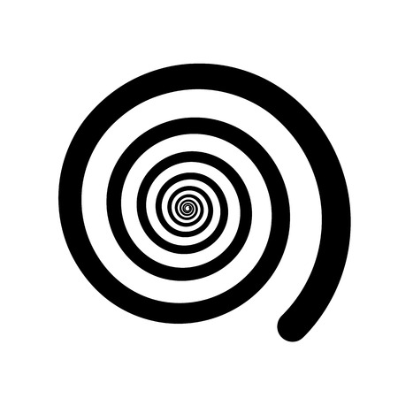 Spiral color black on the white background. Vector illustration Illustration