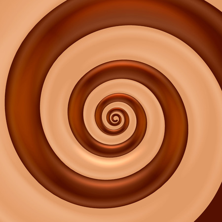 Chocolate mix spiral color background. Vector illustration Stock Photo