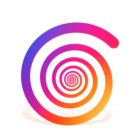 reiki: Spiral color rainbow on the white background. Vector illustration Stock Photo