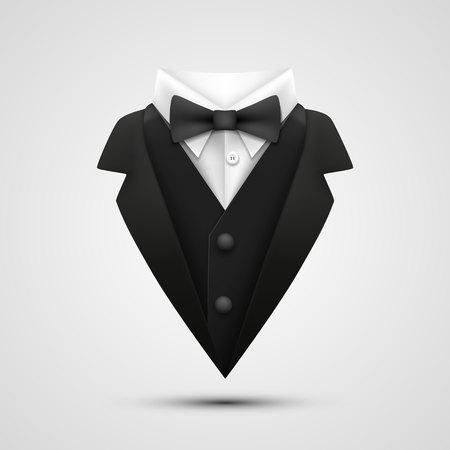 白い背景にジャケットの襟。ベクトル図
