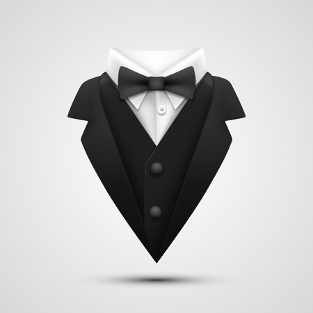 The collar of the jacket on a white background. Vector illustration Stock Photo