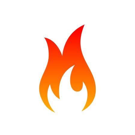 Fire icon sign on the white background. Vector illustration Lizenzfreie Bilder