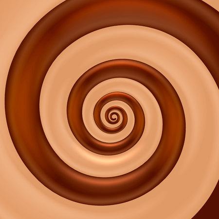 Chocolate mix spiral color background. Vector illustration Lizenzfreie Bilder