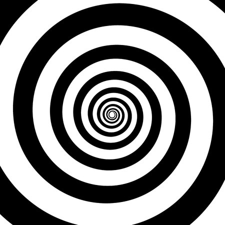 Spiral color black on the white background. Vector illustration Lizenzfreie Bilder