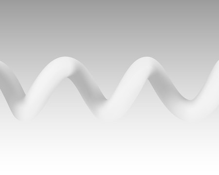 Spiral color white on the gray background. Vector illustration