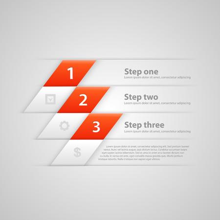 Modern business steps origami style options banner. Vector illustration Illustration
