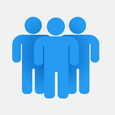 Blue people group. Illustration