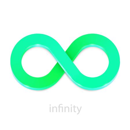 Signo de greeb infinito abstracto aislado en blanco. Ilustración vectorial Ilustración de vector