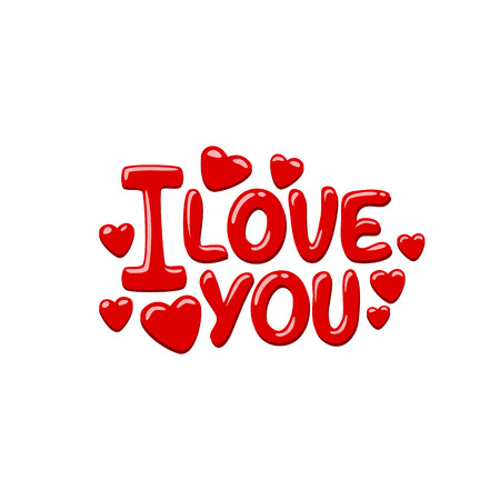 I Love You on the white background. Vector background