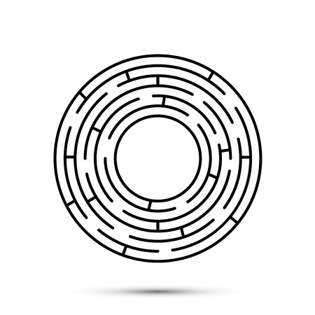 Labyrinth icon flat, template design element, Vector illustration 일러스트