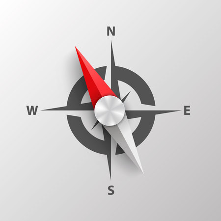 Compass on a white background art. Vector Illustration. Vector Illustratie