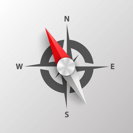 Kompass auf einer weißen Hintergrundkunst. Vektor-Illustration. Vektorgrafik