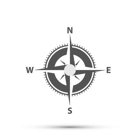 Compass on a white background art. Vector Illustration. Ilustração Vetorial