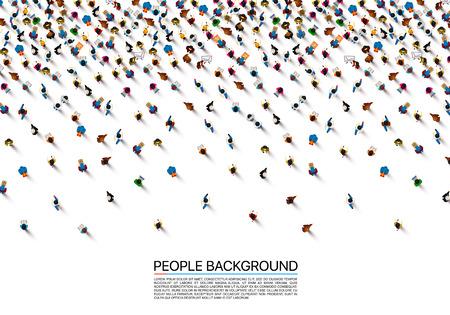A crowd of people on a white background, Business cover. Vector illustration Ilustração