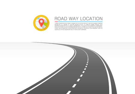 The road goes into the horizon. Vector illustration Illustration