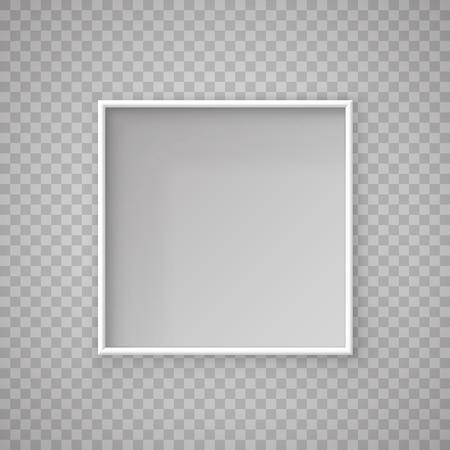 Offene quadratische Papierbox auf transparentem Hintergrund. Vektor-Illustration Vektorgrafik