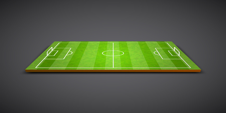 Clear green football or soccer field. Vector illustration 일러스트