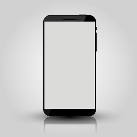 Czarny inteligentny telefon komórkowy makieta. Projekt gry, prezentacja aplikacji mobilnej na smartfona lub makiety portfolio. Ilustracja wektorowa