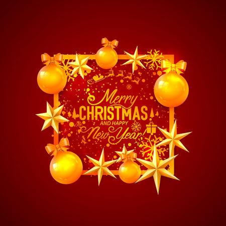 Frohe Weihnachten und ein gutes neues Jahr, Vektorhintergrund, Design Vektorgrafik