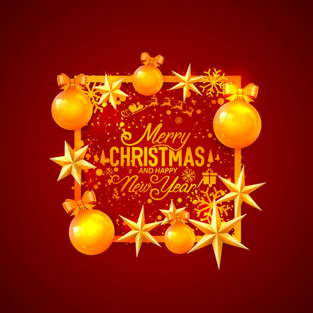 Merry Christmas and happy new year, vector background, design Vector Illustration