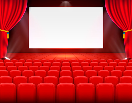 Scene cinema background art, performance on stage. Vector illustration Stock Vector - 109797490