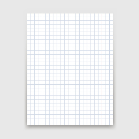 Blank white paper sheet on white background. Banque d'images - 123219617