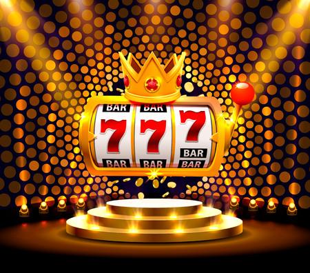King Slots 777 Banner Casino auf dem goldenen Hintergrund.
