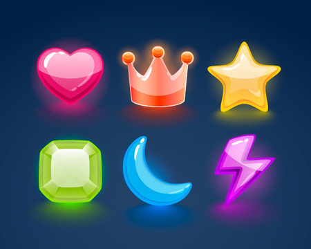 Game match icon. sign set in different colors. Vector illustration
