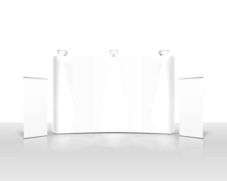 Scene show Podium for presentations on the white background. Vector illustration