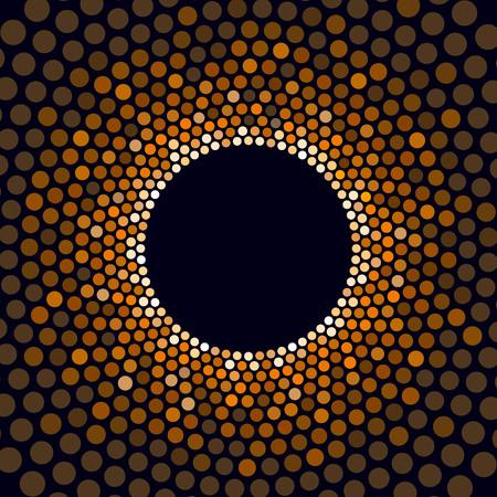 Show light circle golden star circle background. Vector illustration
