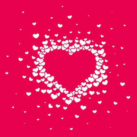 Pink hearted background with a Valentines Day.